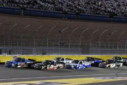 Stewart Friesen, Halmar Friesen Racing, Chevrolet Silverado We Build America and Noah Gragson, Kyle Busch Motorsports, Toyota Tundra Safelite
