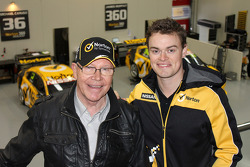 Four-times Bathurst 1000 winner Allan and his son James Moffat