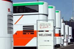 Formula One Paddock Club sign.