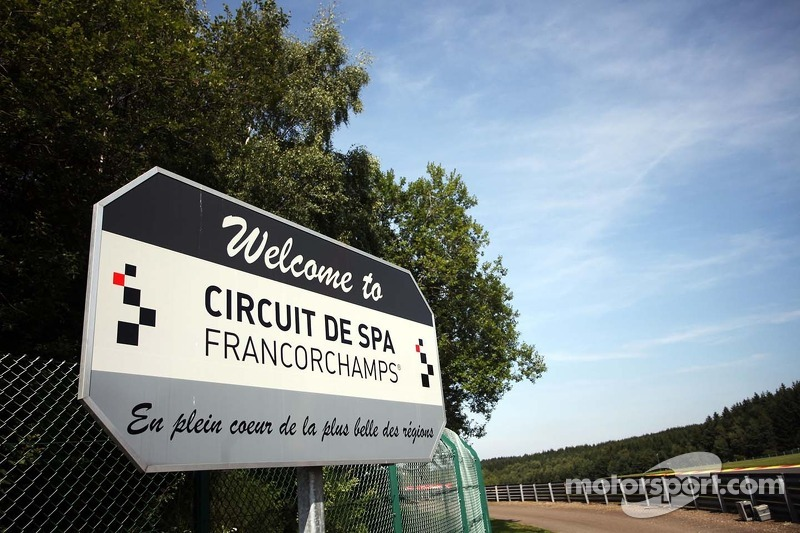 A welcome to the Spa Francorchamps circuit sign