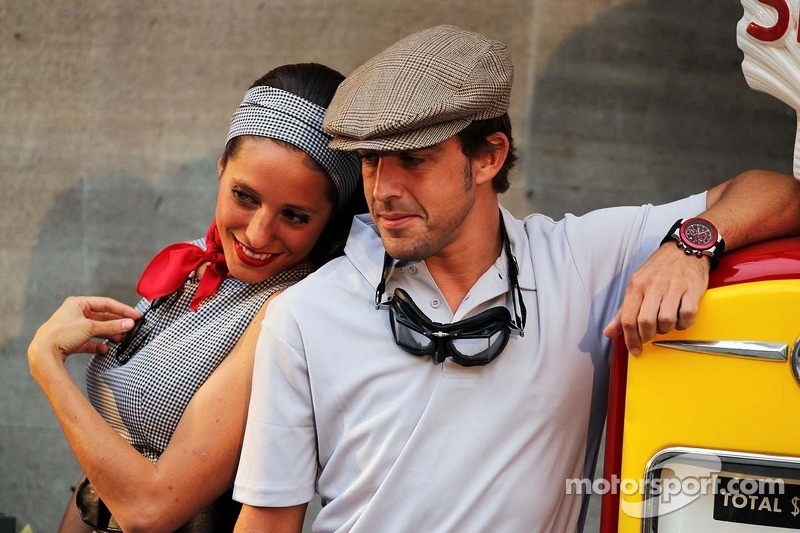 Fernando Alonso, Ferrari at the Back In Time with Shell event