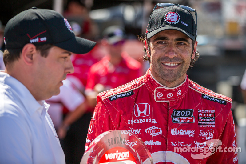 Dario Franchitti op pole position