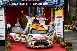 Vencedores Dani Sordo, Carlos del Barrio, Citroen DS3 WRC #3, Citroen Total Abu Dhabi World Rally Team