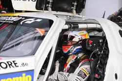 Jan Seyffarth, Nico Bastian, Lance David Arnold, ROWE RACING, Mercedes-Benz SLS AMG GT3, portret