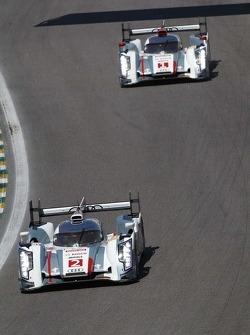 Tom Kristensen, Loic Duval, Allan McNish, Andre Lotterer, Benoit Treluyer, Audi Sport Team Joest, Audi R18 e-tron quattro