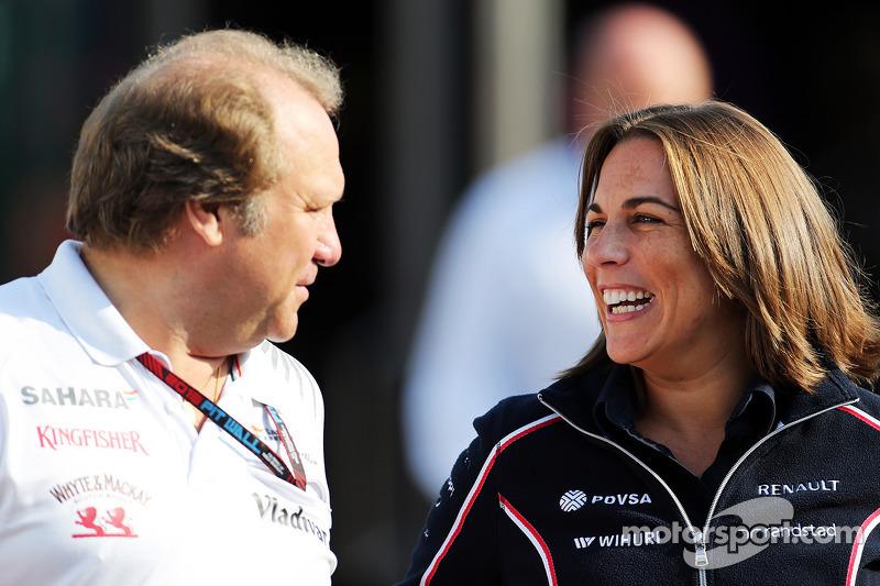 Robert Fernley, Sahara Force India F1 Team Deputy Team Principal with Claire Williams, Williams Depu