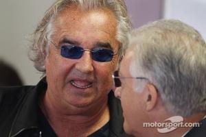 Flavio Briatore, with Piero Ferrari, Ferrari Vice-President