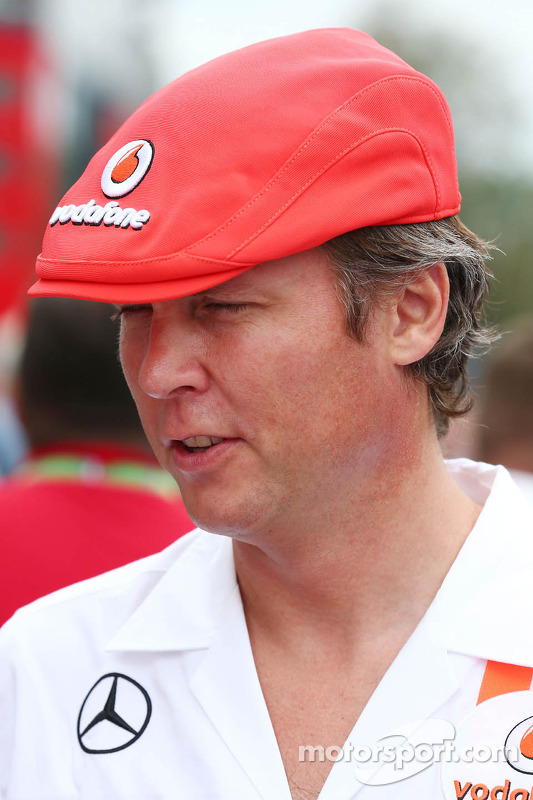 Sam Michael, McLaren Sporting Director wearing a cap celebrating 50 years of McLaren as a constructo