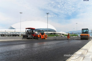 Construction continues on the Sochi circuit in preparation to host a 2014 Grand Prix