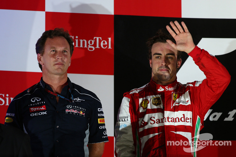 Christian Horner, Teambaas Red Bull Racing en Fernando Alonso, Ferrari