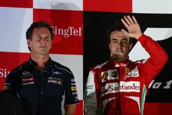 Christian Horner, Red Bull Racing Team Principal and Fernando Alonso, Ferrari