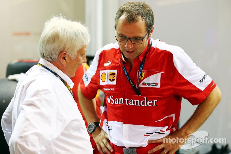 Herbie Blash, FIA Delegate with Stefano Domenicali, Ferrari General Director