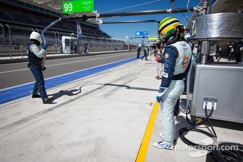 Bruno Senna klaar voor zijn stint