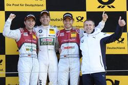 Racewinnaar Augusto Farfus, 2e plaats Mike Rockenfeller, 3e plaats Timo Scheider