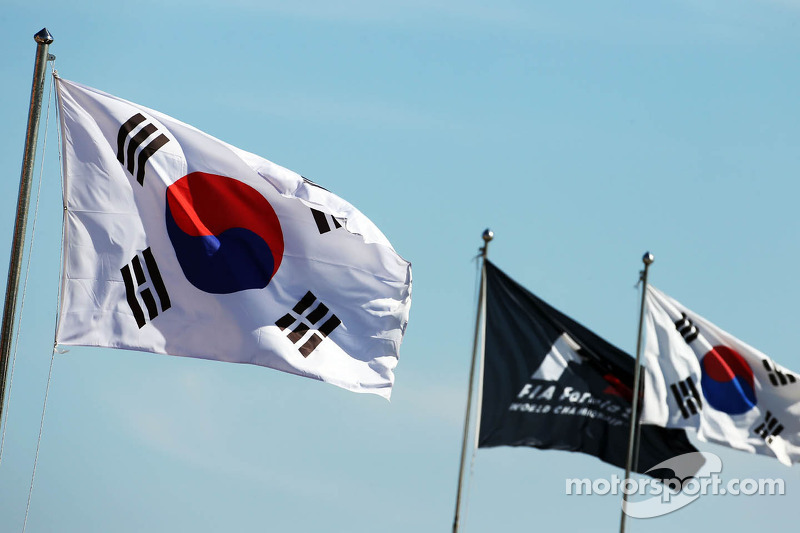 Korean and F1 flags
