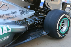 Mercedes AMG F1 W04 rear suspension detail