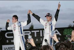 Campeones 2013 Sébastien Ogier y Julien Ingrassia, Volkswagen Polo WRC, Volkswagen Motorsport