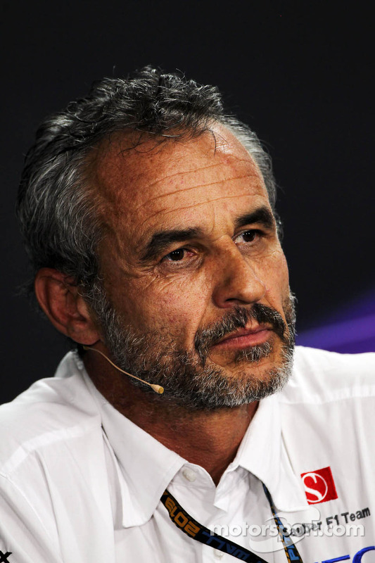 Beno Zehnder, Gerente da equipe Sauber F1 Team, na Conferência de Imprensa da FIA