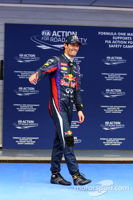 Mark Webber, Red Bull Racing no parque fechado