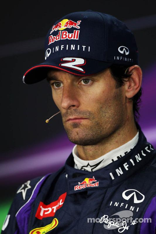 Mark Webber, Red Bull Racing bij de FIA-persconferentie