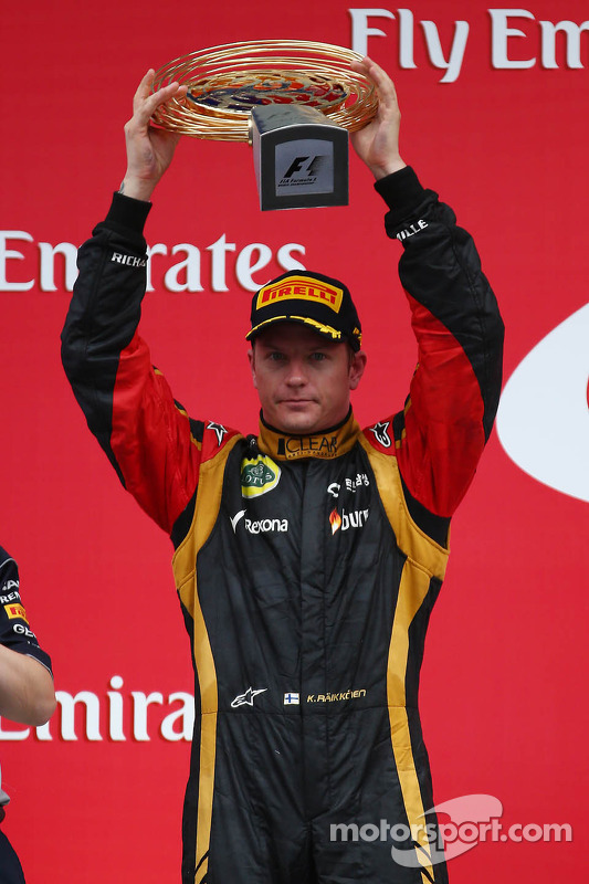 segundo colocado Kimi Raikkonen, Lotus F1 Team