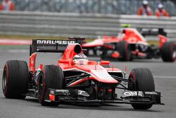 Jules Bianchi, Marussia F1 Team MR02 and team mate Max Chilton, Marussia F1 Team MR02