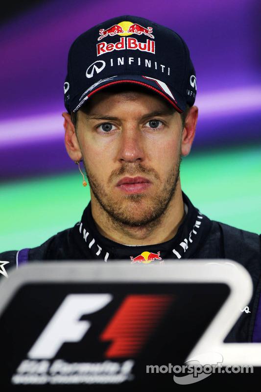 Sebastian Vettel, Red Bull Racing bij de FIA-persconferentie