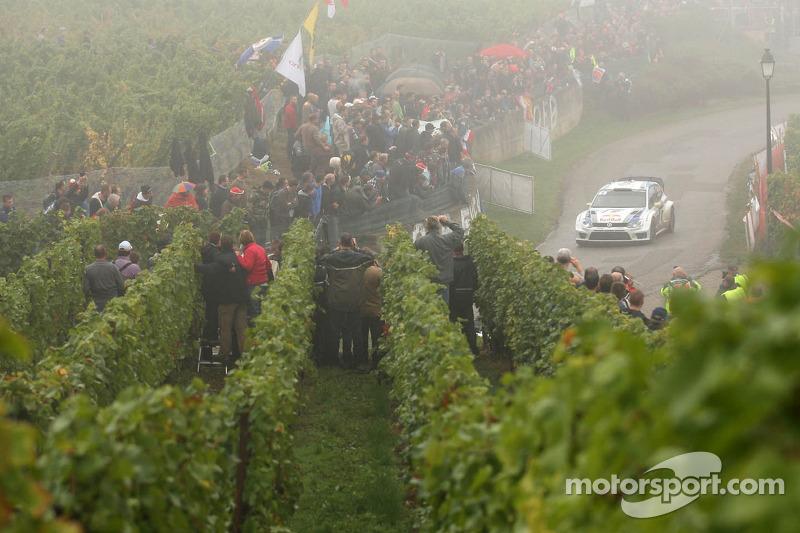 Andreas Mikkelsen en Paul Nagle, Volkswagen Polo WRC, Volkswagen Motorsport