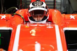 Max Chilton, Marussia F1 Team MR02, mit einem Aufkleber in Erinnerung an Maria De Villota
