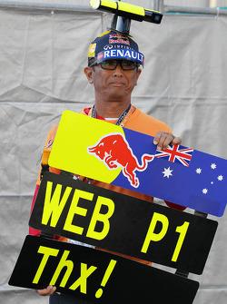 A Mark Webber, Red Bull Racing fan