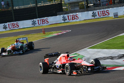 Jules Bianchi, Marussia F1 Team MR02 on the formation lap