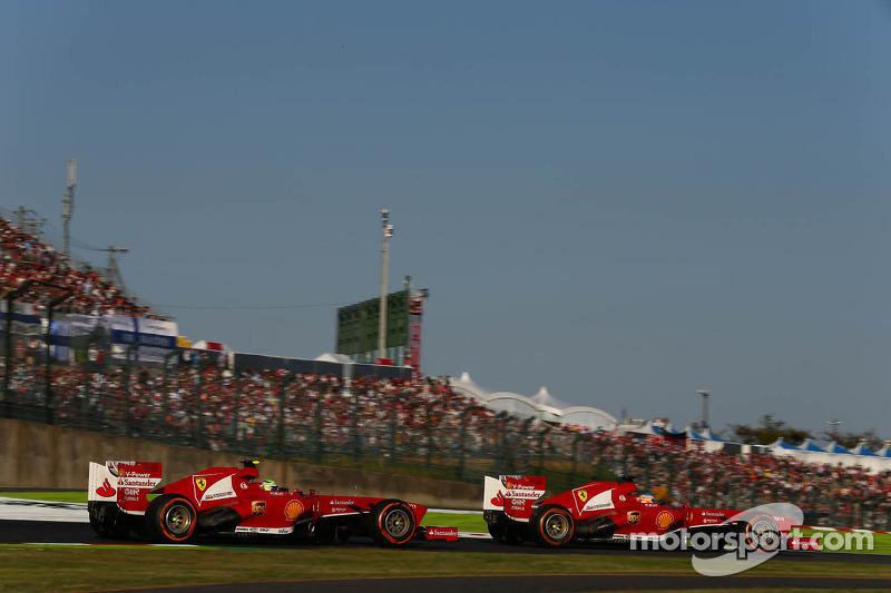 Felipe Massa, Ferrari F138 y Fernando Alonso, Ferrari F138