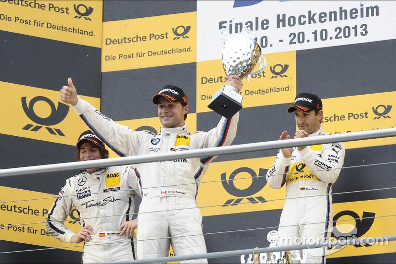 2e plaats Bruno Spengler, BMW Team Schnitzer, viert feest