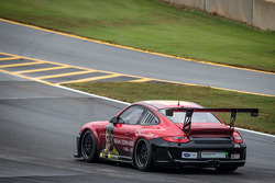 #30 NGT Motorsport Porsche 911 GT3 Cup with the Sean Edwards memorial livery makes an honorary lap around Road Atlanta before the start of the race