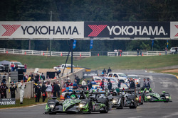 #01 Extreme Speed Motorsports HPD ARX-03b HPD: Scott Sharp, Anthony Lazzaro, David Brabham pronto para a volta de apresentação
