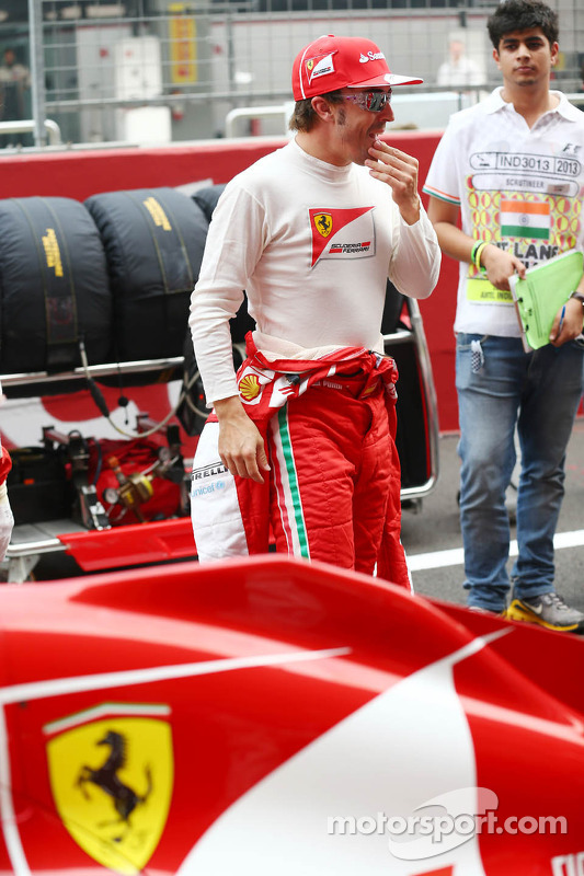 Fernando Alonso, Ferrari no grid