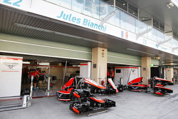 Marussia F1 Team pit garages