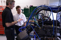 Scott Pruett visits with Ford engineers