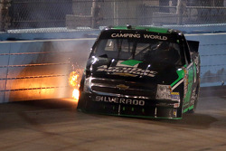 Ron Hornaday Jr. hits the wall