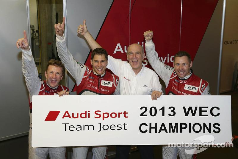 2013 Wereldkampioenen Loic Duval, Tom Kristensen, Allan McNish