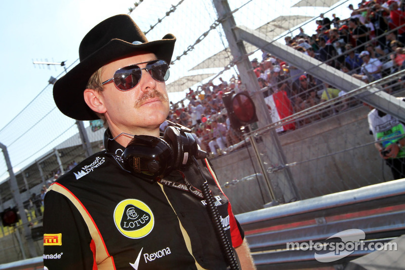 Andy Stobart, Lotus F1 Team Press Officer op de grid