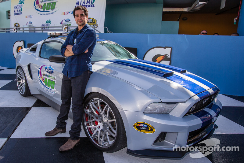 Actor Ramon Rodriguez With The Quot Need For Speed Quot Mustang
