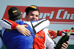 Coppa Shell podium: 2e plaats voor Henrik Hedman met winnaar Gregory Romanelli