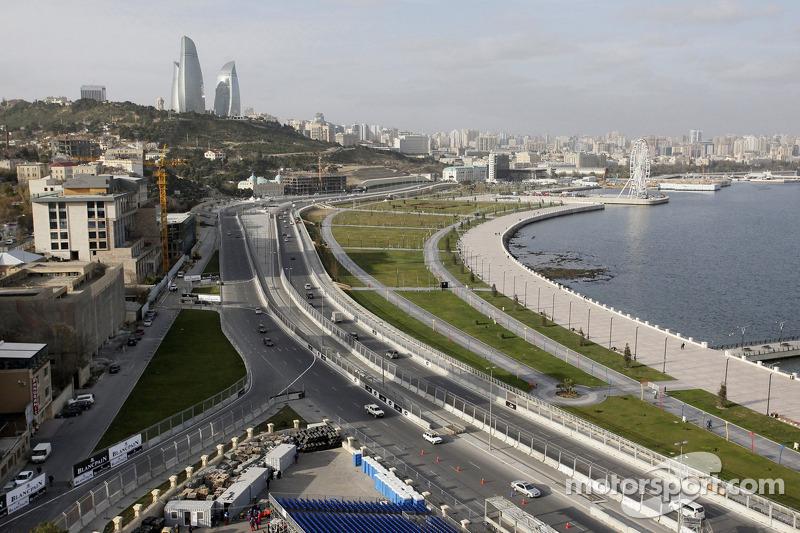 Een overzichtsfoto van Baku