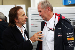 (L naar R): Emerson Fittipaldi, met Dr Helmut Marko, Red Bull Motorsport Consultant