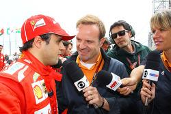Felipe Massa dá entrevista a Rubens Barrichello