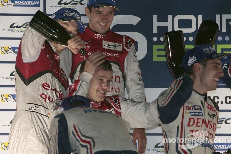 Second place Andre Lotterer, Benoit Tréluyer, Marcel Fässler