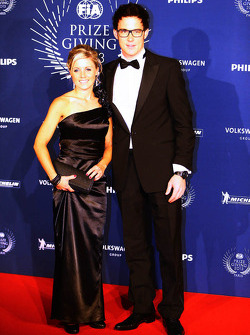 Thierry Neuville et sa femme