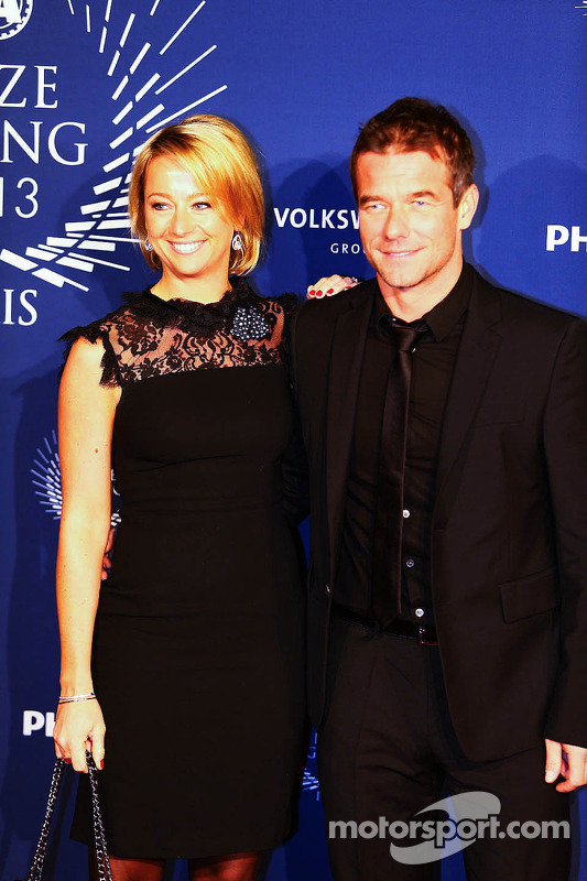Sébastien Loeb, com sua esposa Severine