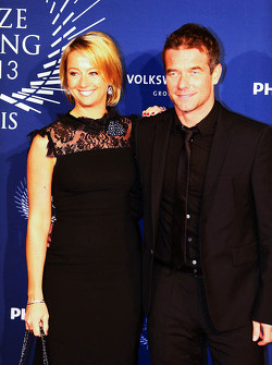 Sébastien Loeb, with his wife Severine